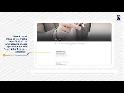 How to make Telegraphic Transfers with smartPDF - كيفية إجراء عمليات