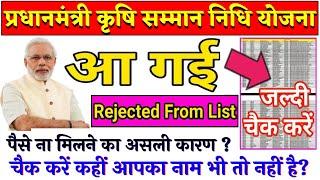 How to Check PM Kisan Samman Nidhi Yojana Status 2019  Rejected Form List देखें आपका नाम भी तो नहीं