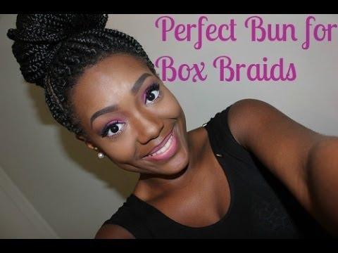 How To Put Box Braids In A Bun Youtube