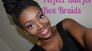 how to put box braids in a bun