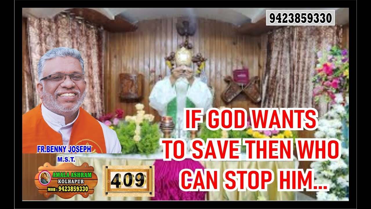 If God wants to save then who can stop Him...