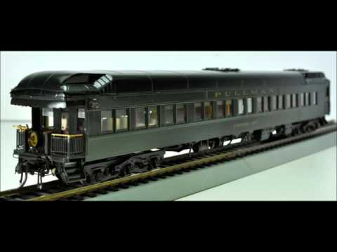 $359 HO Brass Santa Fe AT&SF 1936 Pullman Sleeper Observation Car Coach Yard