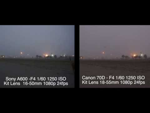 Canon 70D vs Sony a6000 Low Light Test