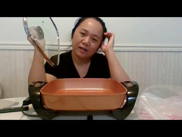 Copper Chef Electric Skillet Cerami Tech Non-Stick Coating 12