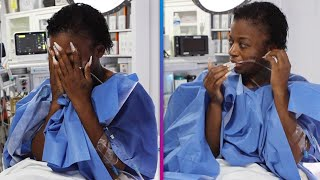 Tessica Brown Tears Up After Surgery to Remove Gorilla Glue From Her Hair