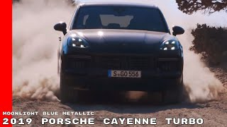 2019 Porsche Cayenne Turbo - Moonlight Blue Metallic