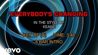 Download Mp3 Keane - Everybody's Changing  Karaoke