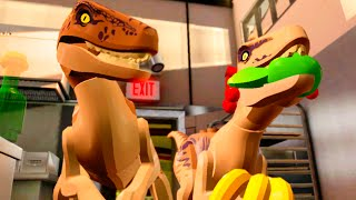 "LEGO Jurassic World Raptors in the Kitchen Scene ""Jurassic Park"""