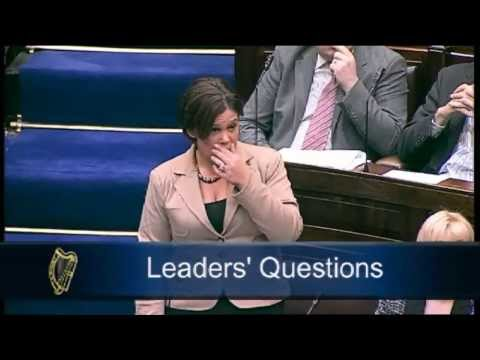 Mary Lou - septic tank bill. Ferris thrown out of Dáil