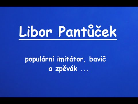 Libor Pantůček naživo
