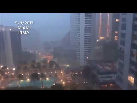 Scary First Video Miami hit by Irma Hurricane , Florida - FloodReliefFund.org