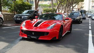 Supercars in Monaco august 2018, Chiron x3, Huayra, Agera RS, 812 superfast x3, 918 x2...