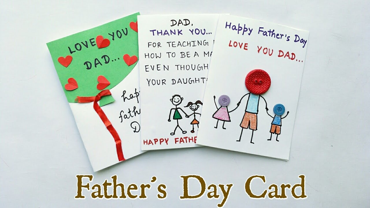 3 Special DIY Father\'s Day Cards Ideas for Kids/Father\'s Day Gift ...