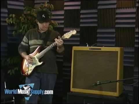 fender 39 59 bassman electric guitar amplifier demo youtube. Black Bedroom Furniture Sets. Home Design Ideas