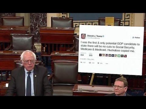 Bernie Sanders Destroys Trump From The Senate Floor