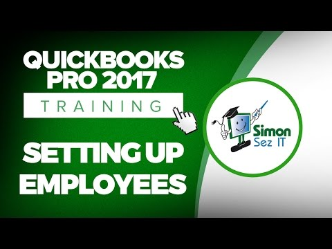 Quickbooks Pro Tutorial Setup Employees For Payroll