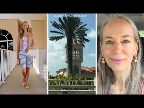 Classic Fashion Over 40/Over 50: Vlog--Browsing/Lunch Village On Venetian Bay, Naples, FL;  My OOTD