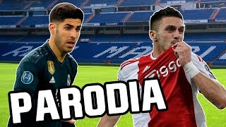 Canción Real Madrid vs Ajax 1-4 (Parodia Con Calma - Daddy Yankee & Snow)