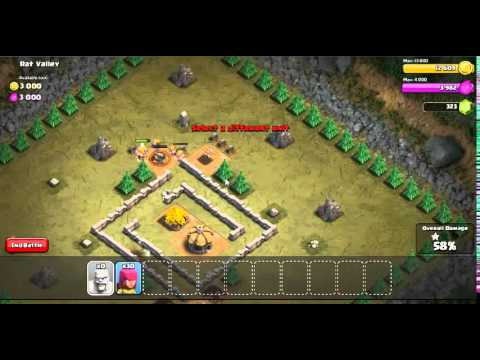 Clash Of Clans:Attacking Rat Valley