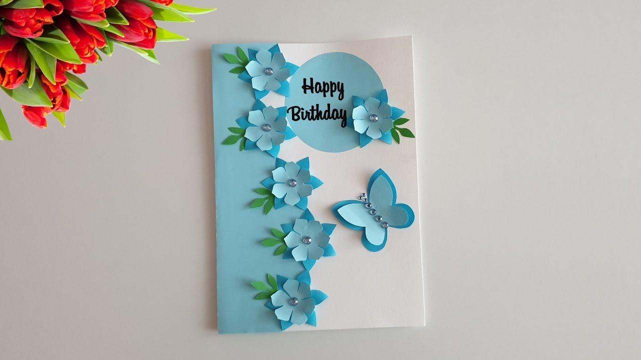 Beautiful Handmade Birthday Card Birthday Card Idea Youtube Greeting Cards Handmade Birthday Handmade Birthday Cards Diy Greeting Cards For Birthday