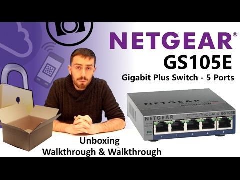 The NetGear Gigabit Plus Switch GS105E-200UKS 5-Port Unboxing and  Talkthrough