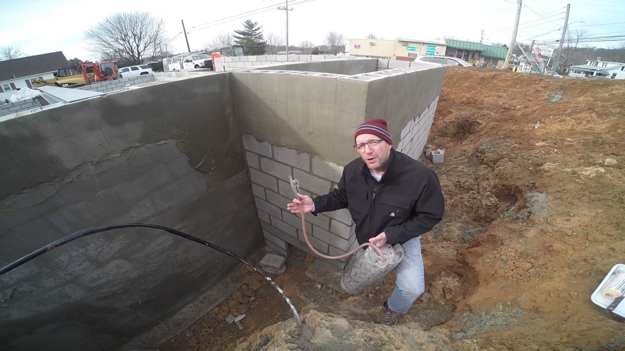 Waterproofing non parged block wall diy membrane - Sealing exterior cinder block walls ...