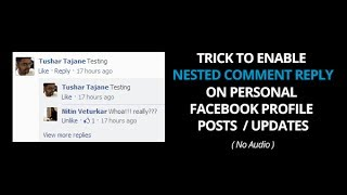 New Facebook Trick To Enable Nested Comments For Personal Profile