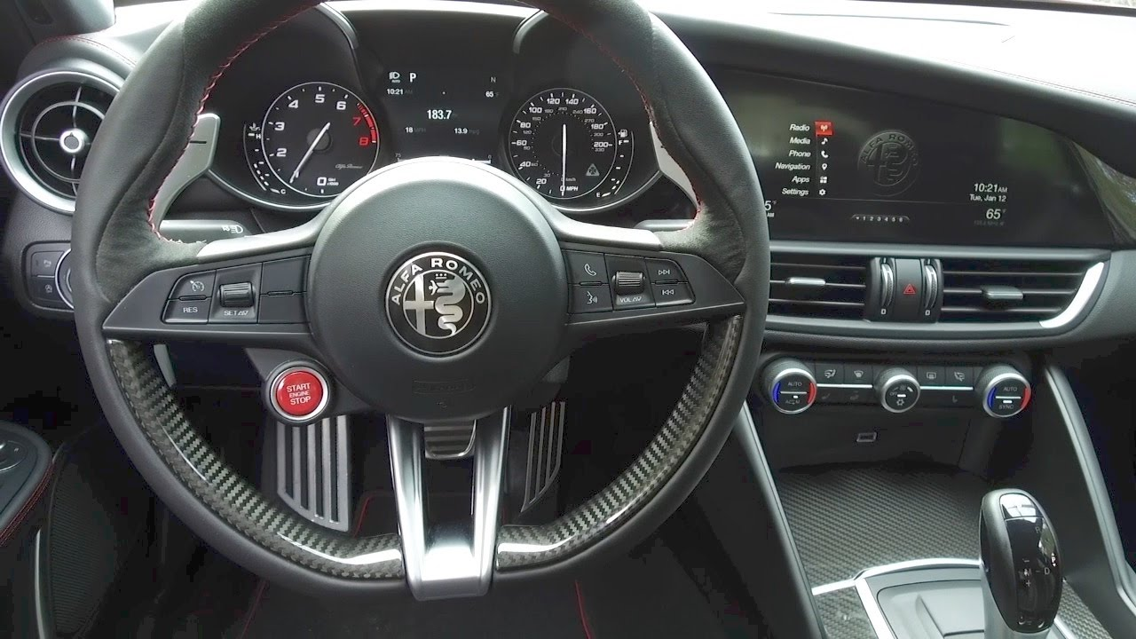 2017 alfa romeo giulia interior youtube. Black Bedroom Furniture Sets. Home Design Ideas
