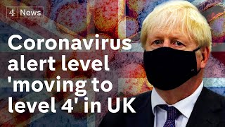 Coronavirus: UK alert level increased amid fear of 50,000 daily infections