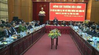 Phó Thủ tướng Thường trực Chính phủ Trương Hòa Bình thăm và làm việc tại tỉnh Thái Bình