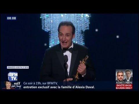 """Le Français Alexandre Desplat remporte un Oscar pour la musique de """"La Forme de l'eau"""""""