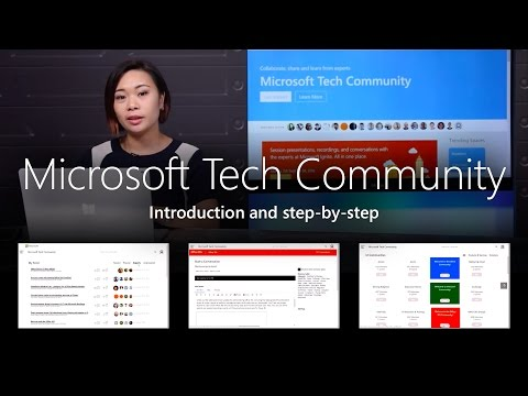 Step-by-step in the Microsoft Tech Community