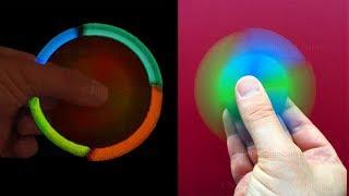 Fidget Spinner selber bauen: Leuchtend - Origami Fidget Spinner Basteln mit Papier: Ohne Kugellager