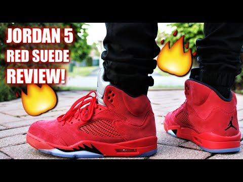 timeless design 59fab fdc79 Air Jordan 5 RED SUEDE REVIEW | Must have summer Jordan?