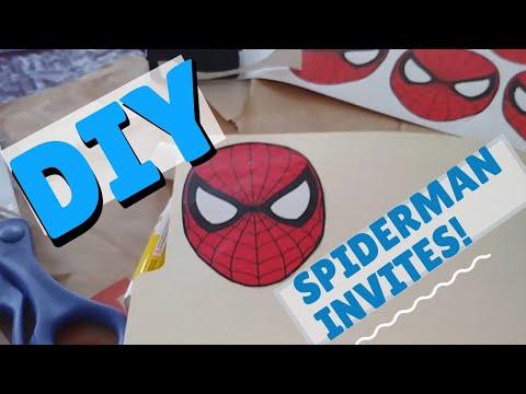 DIY SPIDERMAN Birthday Party Invitations!