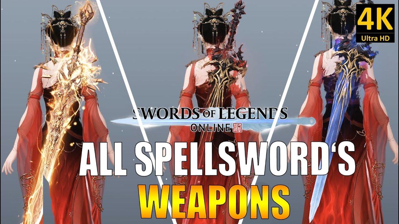 SWORD OF LEGENDS ONLINE | TOUTES LES ARMES DU MAGE ÉPÉISTE