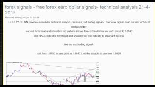 forex signals - free forex euro dollar signals- technical analysis 21-4-2015