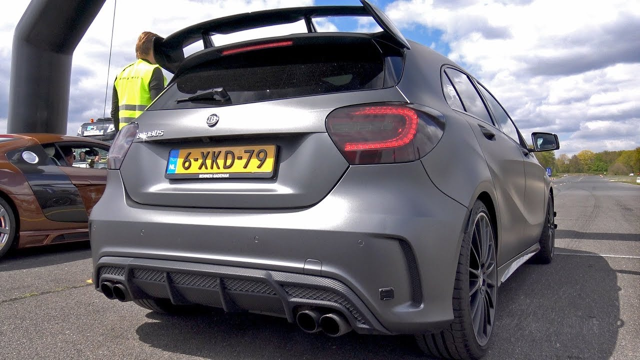 Brabus Mercedes Benz A45 Amg Drag Race