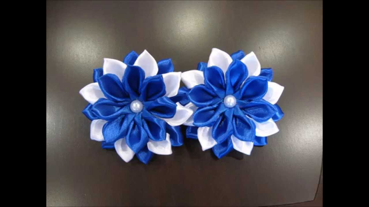 Бантик из ленты, канзаши, dIY, bow of ribbon, kanzashi