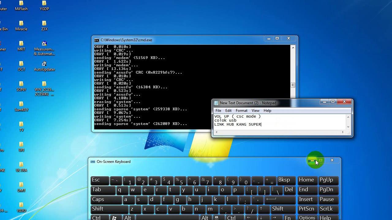 CARA FLASH ASUS ZC550KL / Z010D mode Fastboot