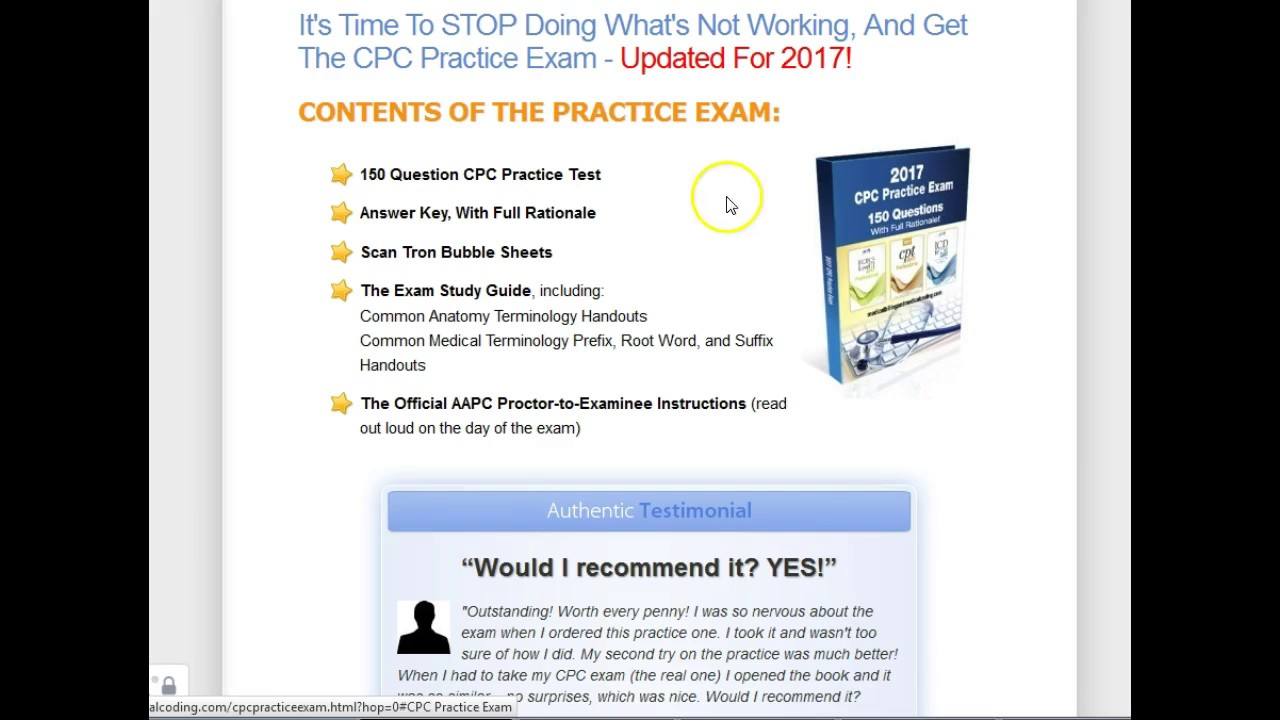 Cpc Practice Exam Discount Download Review Pass Cpc Exam The 1st