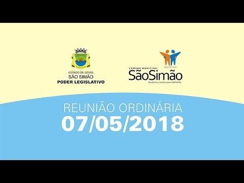 REUNIAO ORDINARIA 07/05/2018