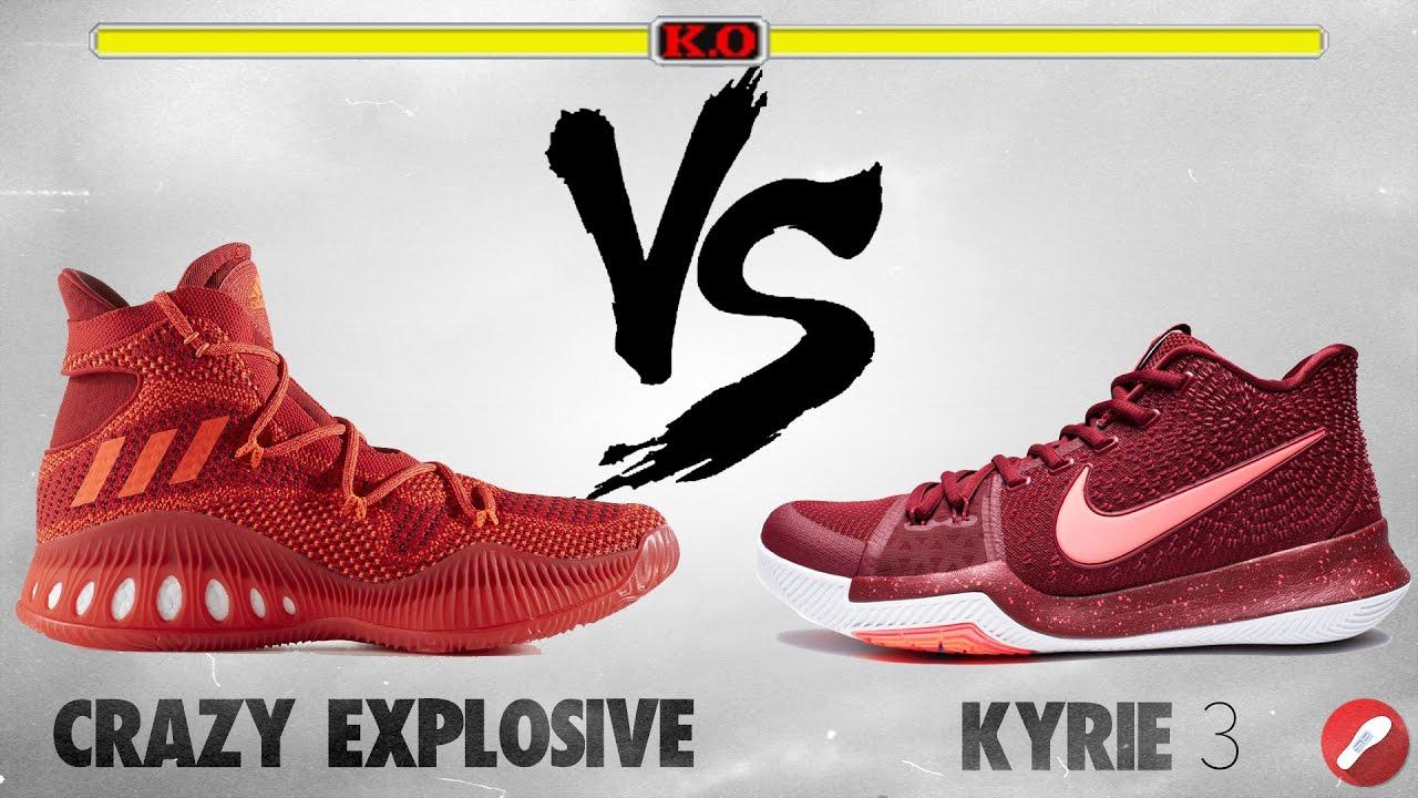 Adidas Crazy Explosive vs Nike Kyrie 3