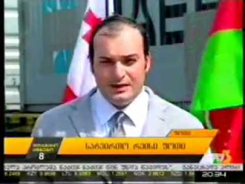 "Container block train resumed! ""Silk-Train"" Poti-Baku News 15.07.2014"