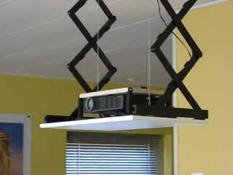 DIY Projector lift - YouTube