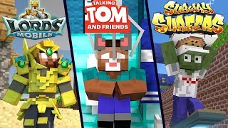 Top 3 Monster School Games : Talking Tom - Subway Surfers - Lords Mobile - Minecraft Animation