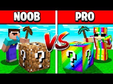 LUCKY BLOCK NOOB vs PRO CHALLENGE!