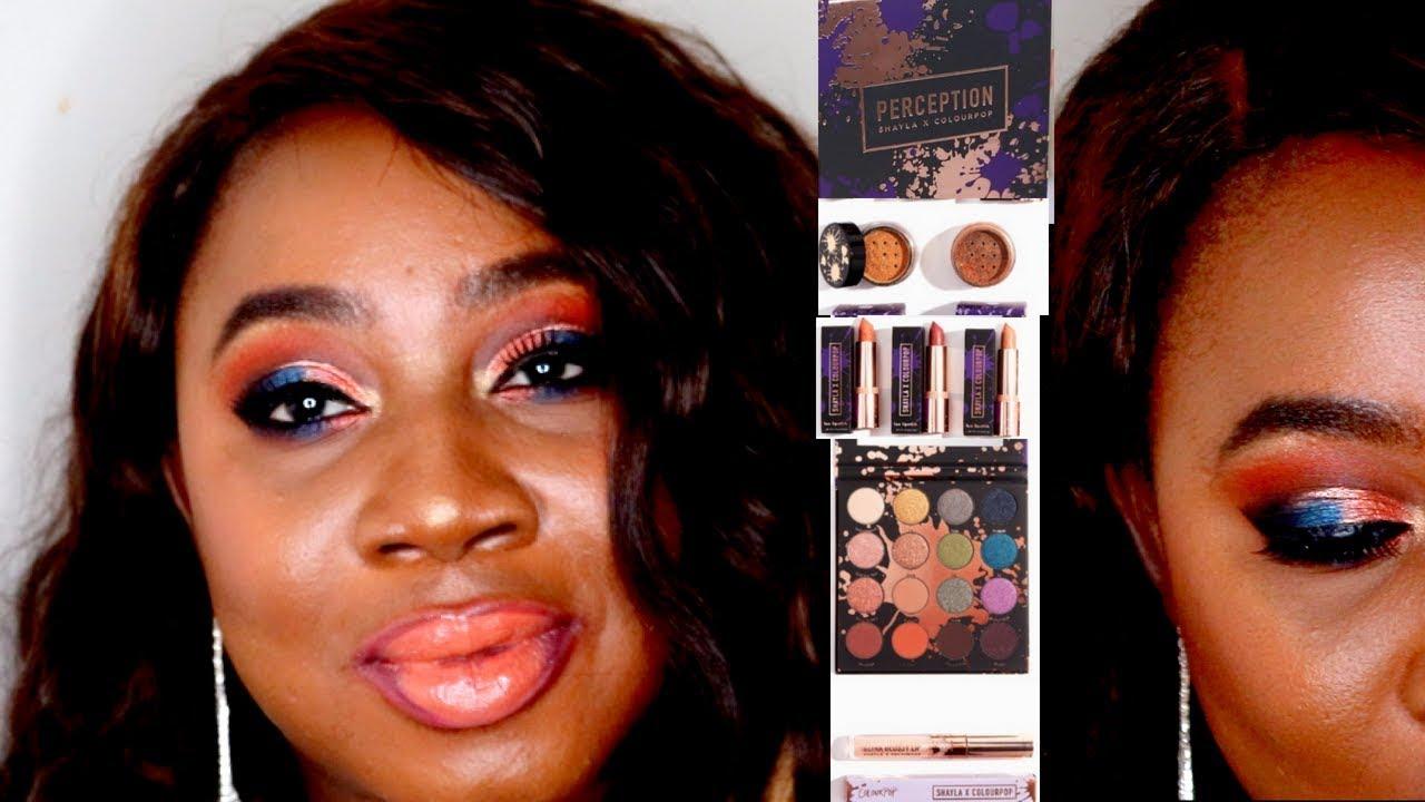 La Palette Perception De Shayla Et Colourpop Makeupshayla Youtube