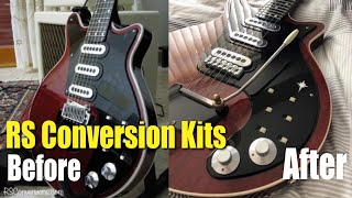 Converting Brian May BMG Guitar To A Super -Tremolo System Pickup Surrounds Upgraded Scratch plates