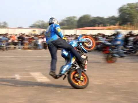 Ghost Riders Bike Stunt In Kollam Youtube
